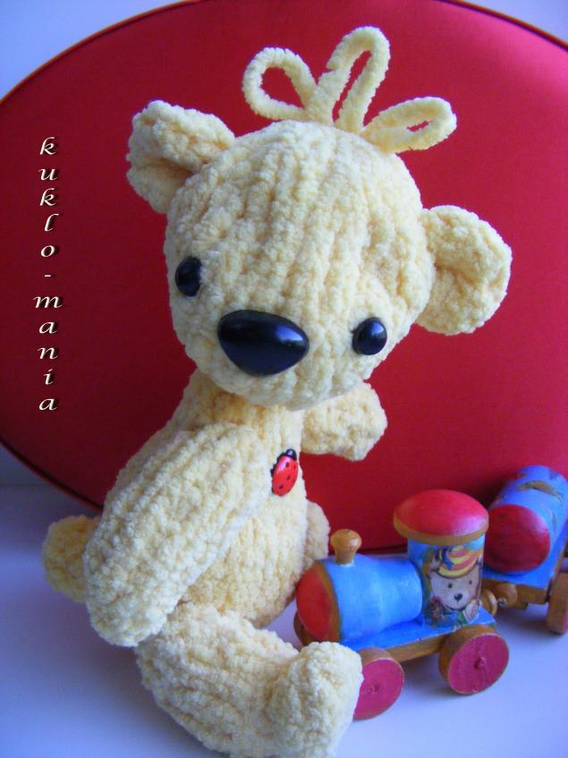 плюшевый мишка, вязаная игрушка