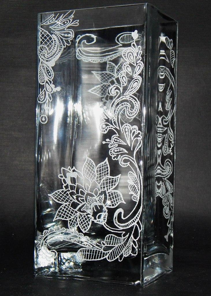 гравировка по стеклу, авторская ручная работа, подарок на новый год