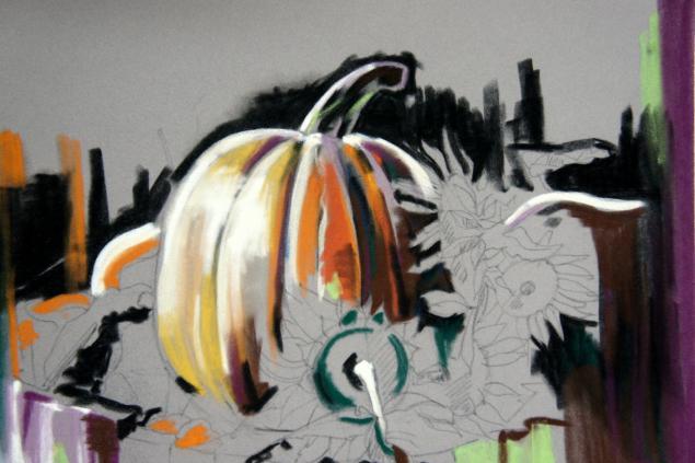 рисование пастелью, пастель