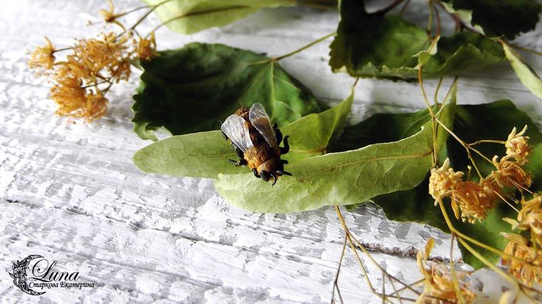 пчела, фимо, моделирование, урок по лепке