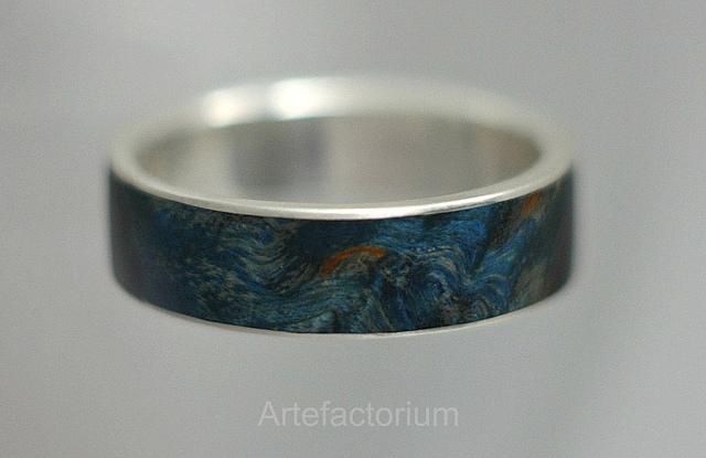 древесина, серебро 925 пробы, деревянная вставка, кольцо своими руками, мастер-класс