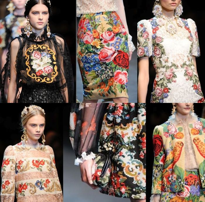Вышивка в моде 2015