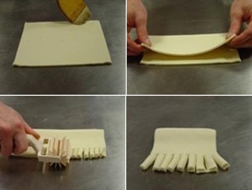 Чтобы слоеное тесто не раскрывалось при выпечке