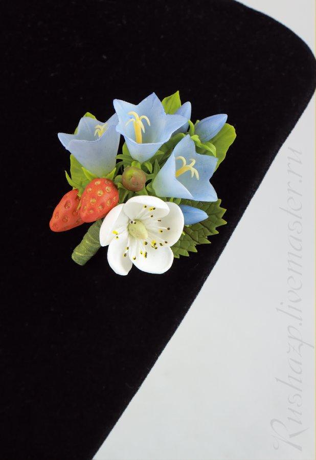 роза, свадебное украшение, ободок для волос, земляника