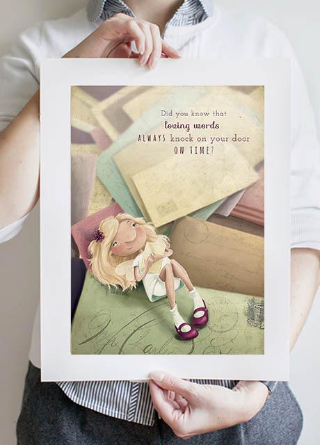 Snail Mail Fairy A3 print