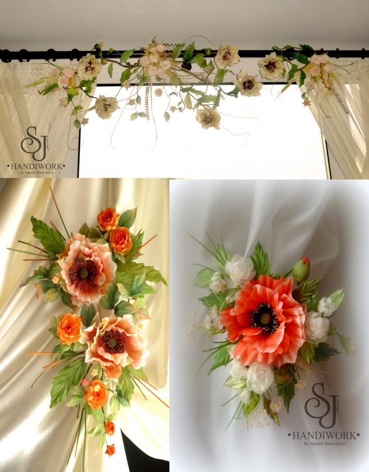 украшение интерьера, цветочные украшения