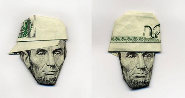 шляпы из банкнок
