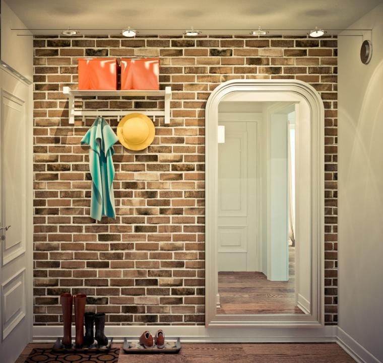 Кирпичная стена в квартире дизайн