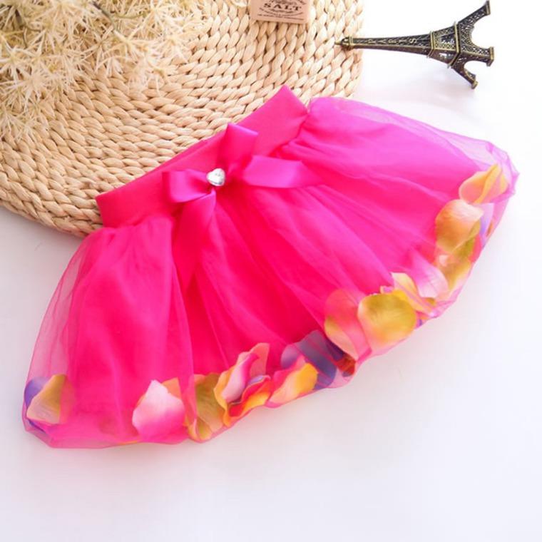 Детская юбка из пышная сетки