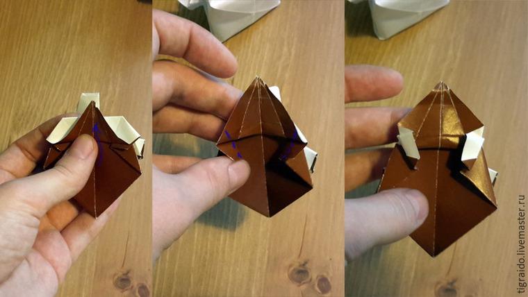 Оригами: пасхальная курочка, фото № 18