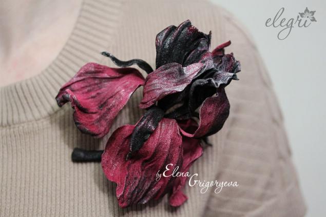 цветы из кожи, купить цветы, обучение цветоделию
