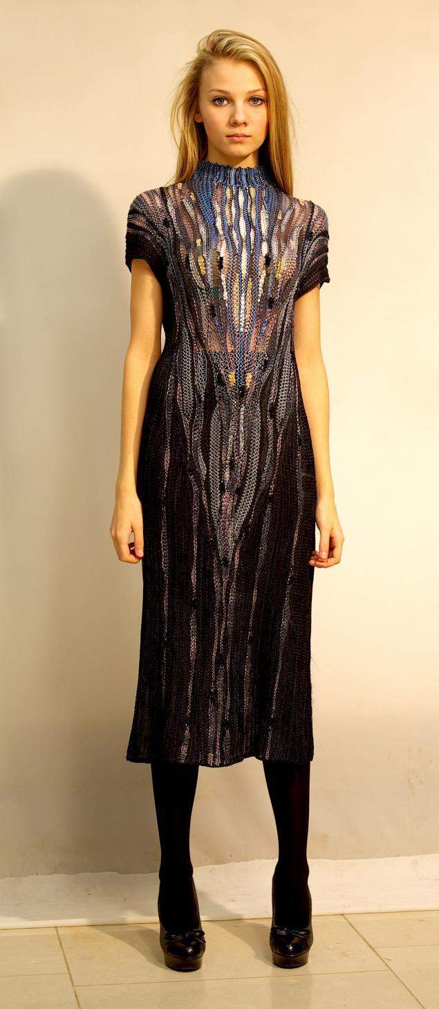 кондрина елена, вязаное платье, дизайнерская одежда, арт-деко