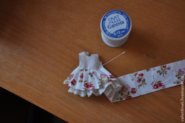 Платье для маленькой куклы