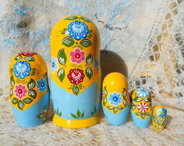 Роспись матрёшки своими руками