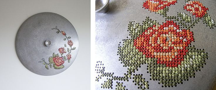 Ornate Embroidery Patterns Stitched into Metallic Objects embroidery