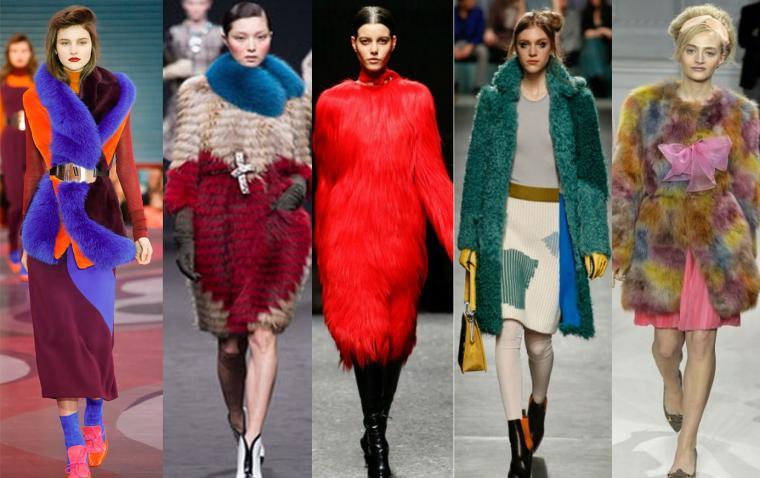 Тенденции сезона: мех – яркий или натуральный, разных фактур, форм и объемов картинки