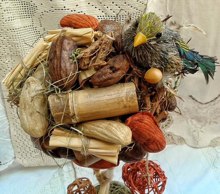 топиарий, дерево счастья, обучение, сухоцветы, подарок на новый год, новогодние сувениры, интерьер, бохо стиль