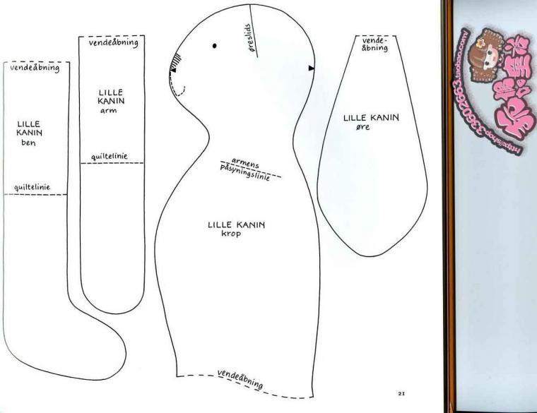 Схема игрушка заяц тильда
